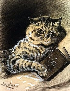 louis-wain-cat-reading-book