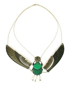 Rosita Bonita Winged Scarab Necklace