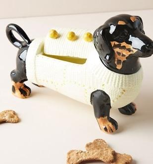 Dapper Dog Cookie Jar